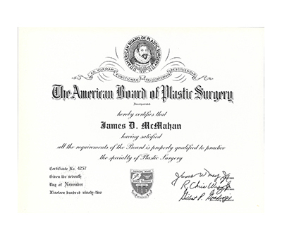 American Board of Plastic Surgery, 1992